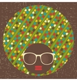 Black womans head with afro hair style vector image