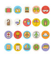 Travel Colored Icons 3 vector image