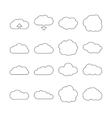 Cloud line web icons for cloud computing vector image