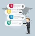 Businessman Presentation Infographic design vector image