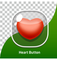 Button Icon for game red heart vector image