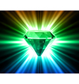 Colorful diamond on bright background vector image