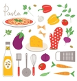 Colorful kitchen collection vector image