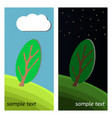 day and night on a clearing in the forest vector image