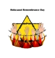 Holocaust Remembrance Day on vector image