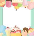 Ice cream summer background vector image