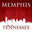 Memphis Tennessee city skyline silhouette vector image