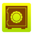 safe sign brown icon at vector image