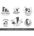 Set of vintage coffee labels vector image