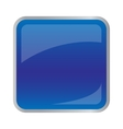 Square dark blue button for website vector image