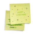 merry christmas paper vector image