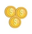 money cash flat icon vector image