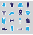 mens clothing stickers eps10 vector image