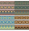 Set of seamless Greek patterns of different colors vector image