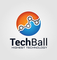 Technology Ball vector image