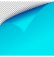 Curl corner blue paper template Transparent grid vector image
