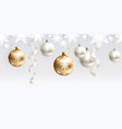 christmas decoration for site horizontal seamless vector image