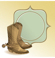 cowboy boots in engraving style - vector image