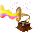 Music background with gramophone vector image
