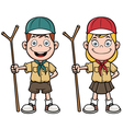 Scout kids vector image