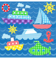 Sea transport stickers vector image