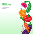 Vegetables Fresh vertical vector image