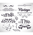 Vintage Calligraphic Set vector image