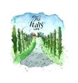 Watercolor Italy landscape vector image