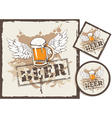 beer stand vector image