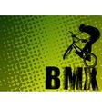 Bmx stunt cyclist vector image