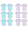 T shirts silhouettes vector image vector image