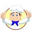 Chef cartoon with thumb up vector image vector image