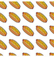 Pattern with delicious hotdogs vector image