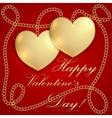 Saint Valentine Greeting Card vector image