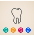 icons with a tooth vector image