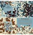 collection of floral background vector image