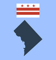 flag of the district of columbia and map vector image