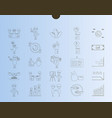outline web icon set - money finance payments vector image