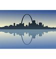 Saint Louis Downtown Riverfront vector image