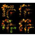 Set of autumn leaves design elements vector image