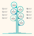 Tree infographic business icons placeholder text vector image