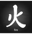 Kanji hieroglyph fire vector image