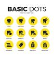 Teeth flat icons set vector image