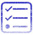 checklist framed textured icon vector image