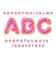 donut abc pie alphabet baked in oil letters icing vector image