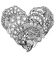 abstract black paisley ornament in heart shape vector image