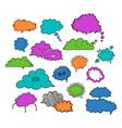 cloud speech bubbles-05 vector image