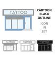 Tattoo salon building parlor icon cartoon single vector image