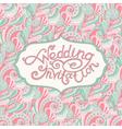 abstract wedding invitation vector image vector image