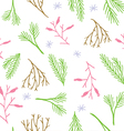 Botanical tile winter wallpaper vector image vector image